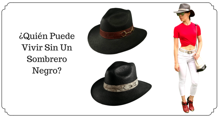 sombrero panama negro